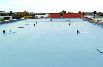 A flat roof covered with Liquiflex Pro